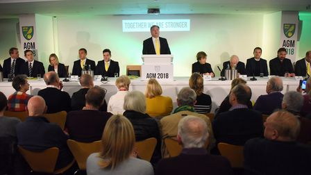 The Norwich City Football Club AGM. Picture: DENISE BRADLEY