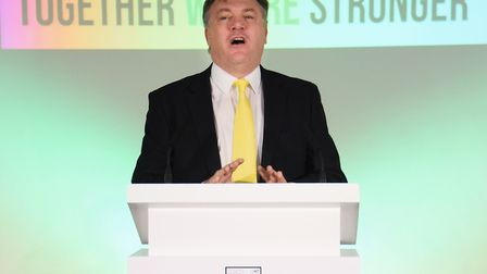 Ed Balls is to step down as Norwich City chairman. Picture: Denise Bradley