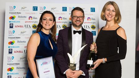 The team at Indigo Swan, winner of the Small Business category. From left: Emily Groves, James Grove