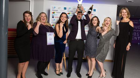 The team at Indigo Swan, winner of the Small Business category. Picture: I Do Photography.