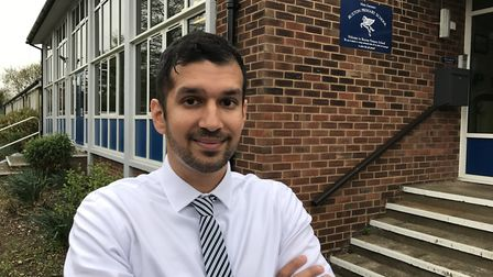 Imran Khan, headteacher at Buxton Primary School. Picture: Neil Perry