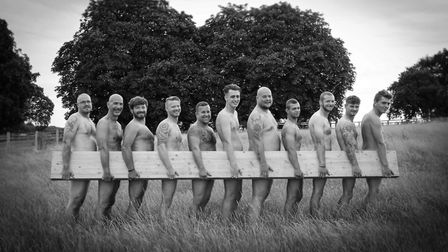 Men from Scotts Timber Buildings, Horsford, have shed their clothes for a cancer charity calendar. P