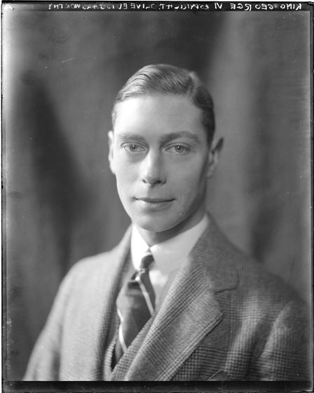 Prince Albert, who later became King George VI, by Olive Edis. Glass plate negative, taken in 1920.