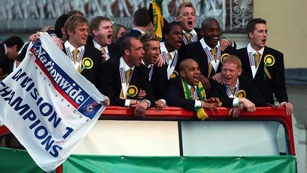 Norwich City went on to claim the title after being Christmas Number One in 2003. Picture: James Ba