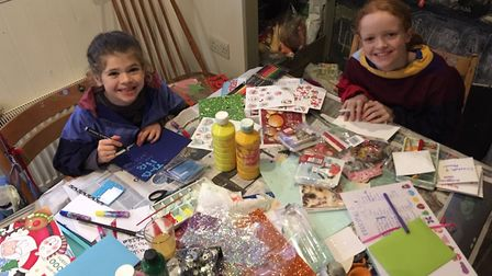 Christmas card making is all part of Christmas in many homes. Picture submitted