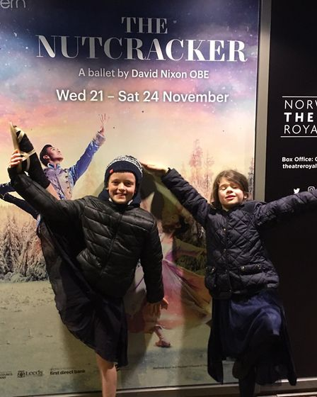 The girls had a wonderful early Christmas treat at the Nutcracker at Norwich Theatre Royal. Picture
