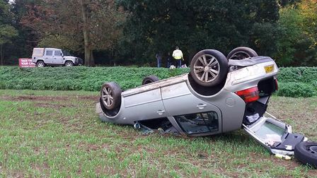 Scene of a recent accident at the St John corner on Lion Road near Palgrave. Picture: Jonny Ling