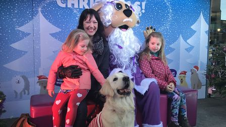 Dogs had the chance to meet Santa Woof Woof at the Forum, Norwich. Picture: Victoria Pertusa
