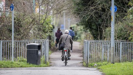 Part of the cycle path between Gaywood Road and Edward Benefer Way in King's Lynn. Picture: Matthew