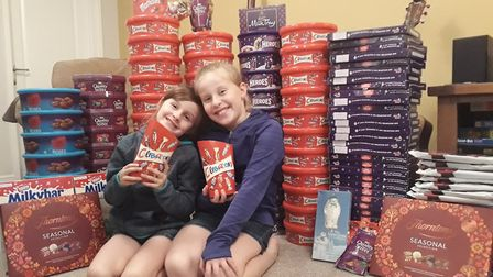 Seven year-old Grace Russell and her nine-year-old sister Anna. PIC: Supplied by Marie Russell.