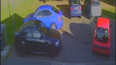 Piotr Brzozowski filmed a hit-and-run of his vehicle outside his home in Norwich. Picture: Piotr Brz