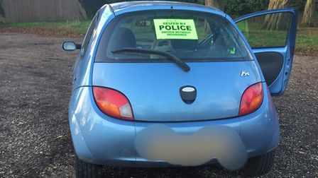 Car seized by police because the driver had no insurance after being stopped during a road safety op