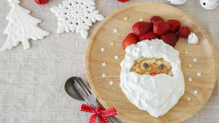 Santa pancake for breakfast. Picture: Getty Images/iStockphoto