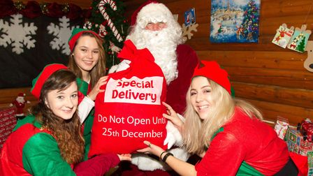 Santa arrives at Notcutts Woodford. Picture: Alan Towse/Nottcutts Garden Centres Ltd
