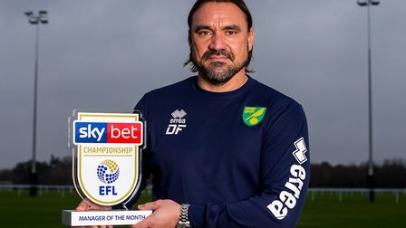 Daniel Farke is the Championship manager-of-the-month Picture: Robbie Stephenson