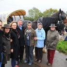Benji Howell (pictured left) with protestors against the Barsham turbine at the public enquiry earli