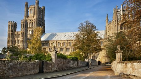The beautiful city of Ely - if you're in a car and spot James, please have a little patience...