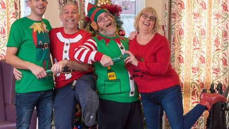 Satff at the Sandringham Ward Christmas party at the Julian Hospital, Norwich. Picture: Steve Adams