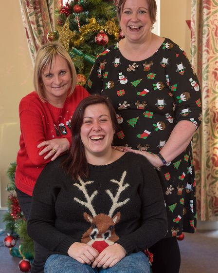 Staff at the Sandringham Ward Christmas party at the Julian Hospital, Norwich - Petra Cutmore, Josie