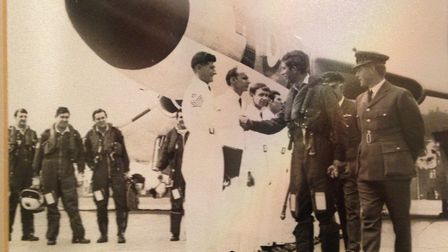 In July 1971, he met Prince Charles at RAF Waddington. Picture: Contributed by Robert Honeywood