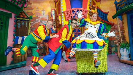 Norwich Theatre Royal's 2018 pantomime - Aladdin. Ben Langley as Wishee Washee, Steven Roberts as Al