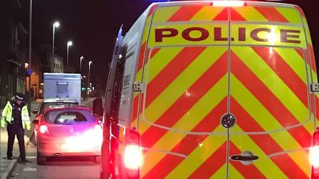 Two motorists were arrested overnight and more than a dozen drivers were stopped, as the winter drin