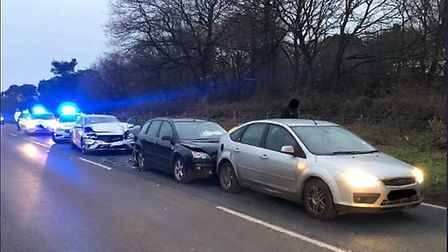 The scene of the collision in Thetford Picture: Norfolk Constabulary