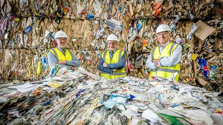 Norfolk Waste Partnership members – Cllr Martin Wilby, Cllr John Fisher (Chair of the partnership) a