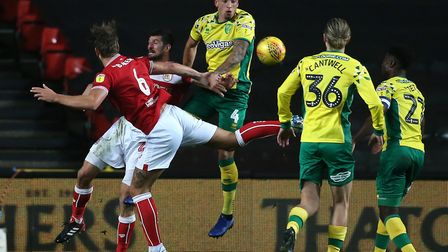 Ben Godfrey made his 11th appearance of the season for Norwich during the draw at Bristol City Pictu