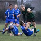 Jim Riley sets out on a run during North Walsham's big win over neighbours Diss at Scottow on Saturd