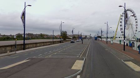 Norfolk Police used a drone to hunt a 'dangerous' dog in South Beach Parade, Great Yarmouth on Sunda