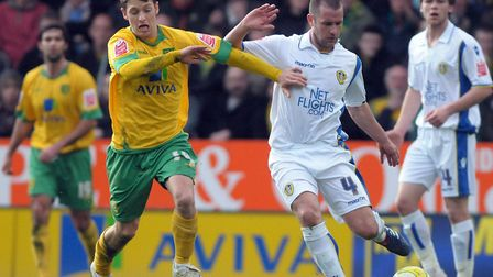Wes Hoolahan battles with Michael Doyle during City's victory over Leeds in 2010 Picture: Archant li