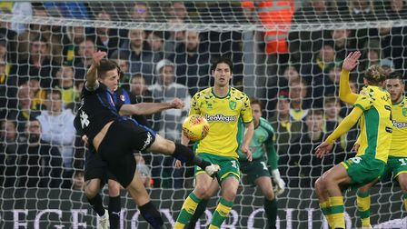 Will Vaulks fires a shot at goal during Rotherham's 3-1 loss at Norwich earlier this month Picture: