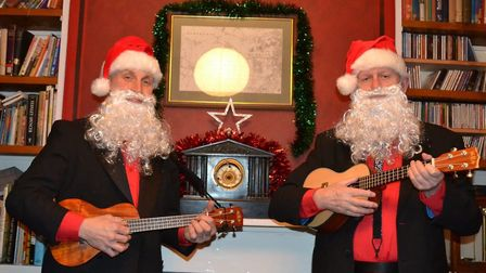 A finalist in the Norwich Business Improvement District's Festive Faces contest, taken by David Stew
