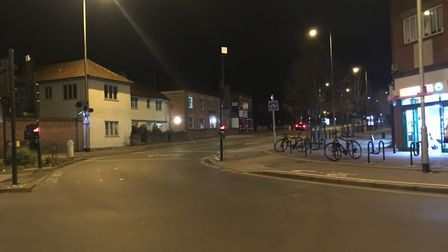 Police closed an area near St Augustines Street after a man was stabbed in the area. Picture: Archan