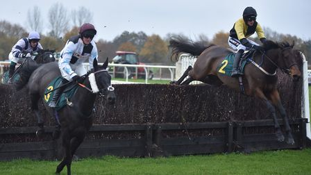 Action from the second race at Fakenham Picture: Sonya Duncan