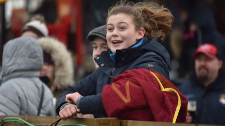 A fan enjoys the action at Fakenham racecourse Picture: Sonya Duncan