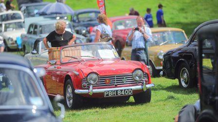 Over 50 iconic cars appear each year at Heveningham Hall Concours.