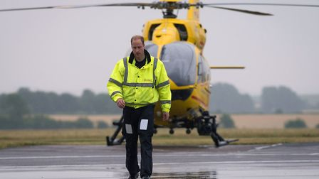 The Duke of Cambridge as he begins his new job with the East Anglian Air Ambulance (EAAA) at Cambrid