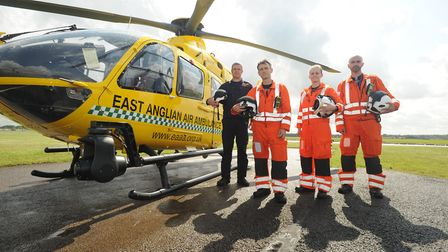 06/08/14 Marshalls announcement06/08/14 - Pictures of the East Anglian Air Ambulance in Cambridge, t