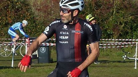 Norwich Veteran Jimmy Piper (Renvale RT) takes the 50+ win at the Hillyfields cyclo-cross Picture: F