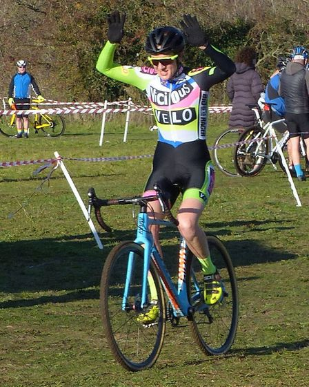 Londoner Delia Beddis wins the women's race at the Hillyfields cyclo-cross Picture: Fergus Muir