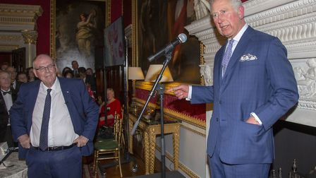 The Prince of Wales attends a tea party held at Spencer House in London to celebrate 70 inspirationa