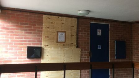 The boarded up property in Nightingale Drive, Taverham. Picture: Staff