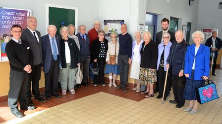 Some of the evacuees, committee members and guests at the unveiling of a special information plaque