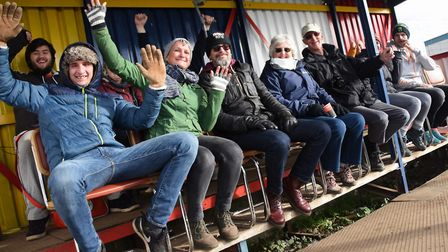 Locals watching the filming of Cars Are The Stars pilot TV programme at Swaffham Raceway. Picture: D