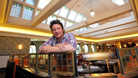 Jamie Oliver at his restaurant in Norwich. Photo: Bill Smith