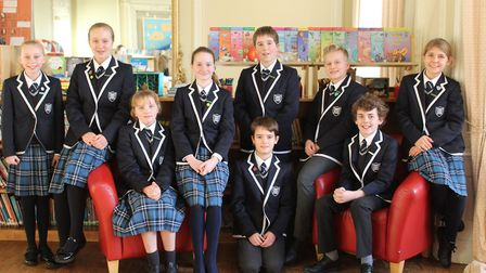 In Our Good Books: Nine Year 7 pupils at Langley Preparatory School at Taverham Hall have been sele