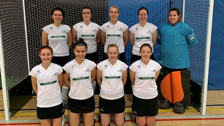 Harleston Magpies Ladies indoor team line up for a team photograph at Nottingham Picture: CLUB