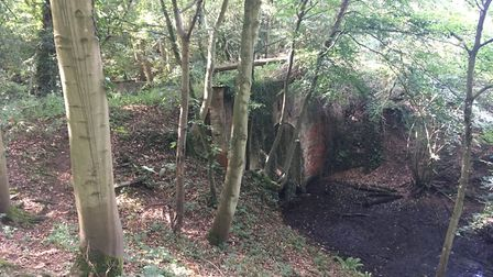 The remains of the High and Low bridge. Photo: Submitted